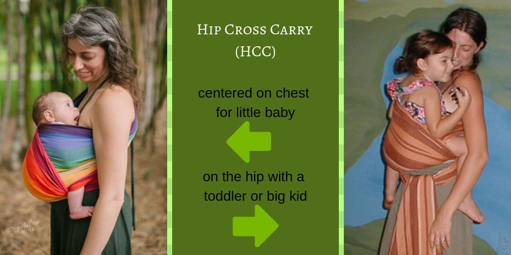 Hip Cross Carry Little Baby or Toddler or Big Kid