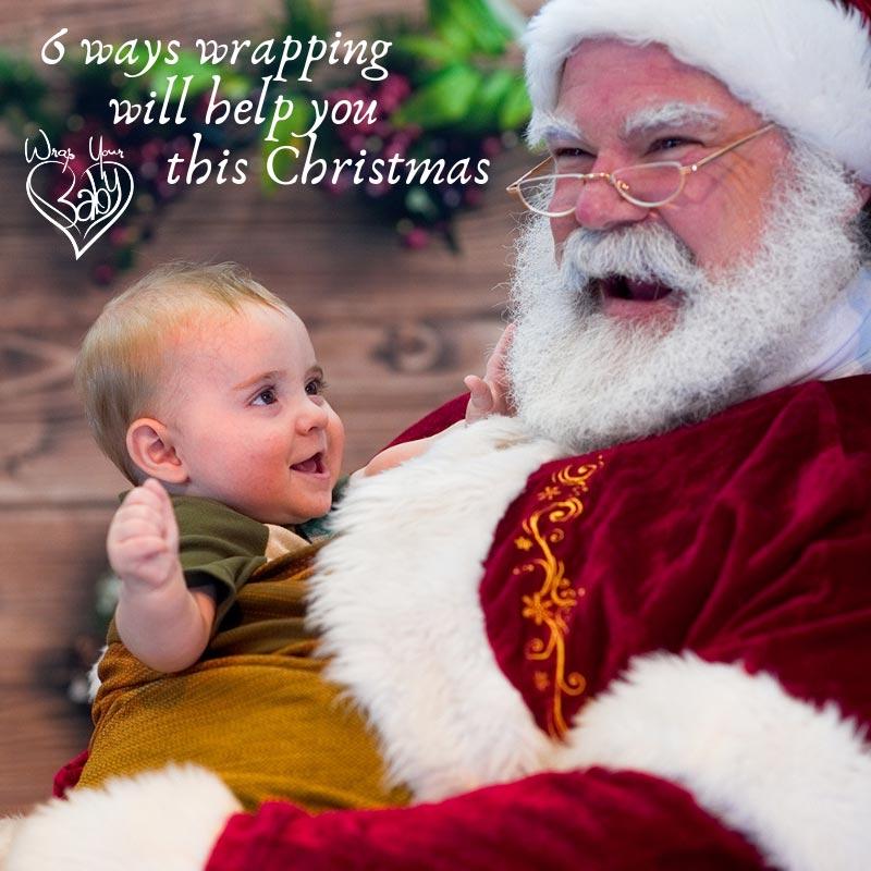 Babywearing Santa - Santa wraps babies!