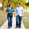 Couple with baby in Wrapsody Breeze Orion Wrap