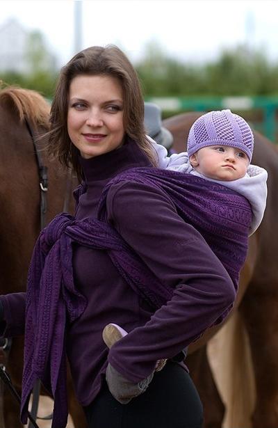 Zara Aubergin Ellevill Wraparound Baby Carrier - Wrap Your ...
