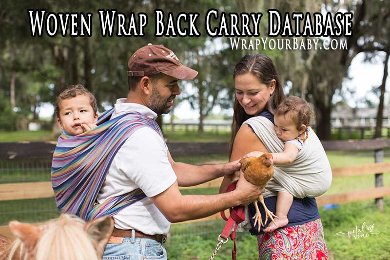 Woven Wrap Back Carry Tutorials