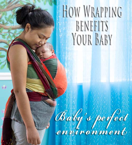 Babywearing creates a perfect environment for the fourth trimester