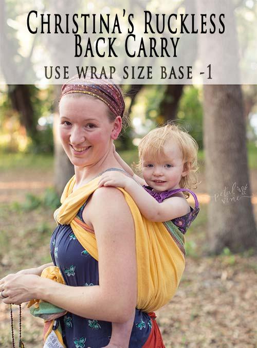 Christina's Ruckless Back Carry (CRBC)