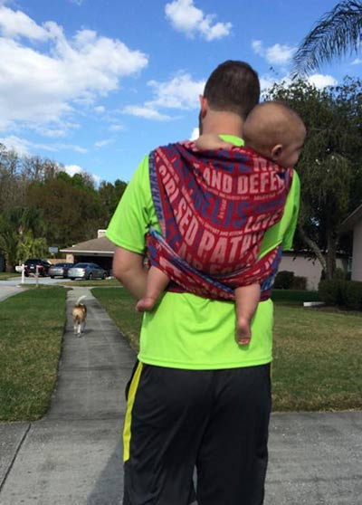 Rucksack Carry on Wrapping Dad's Back