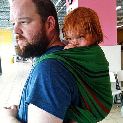 Babywearing Man Rucksack Carry