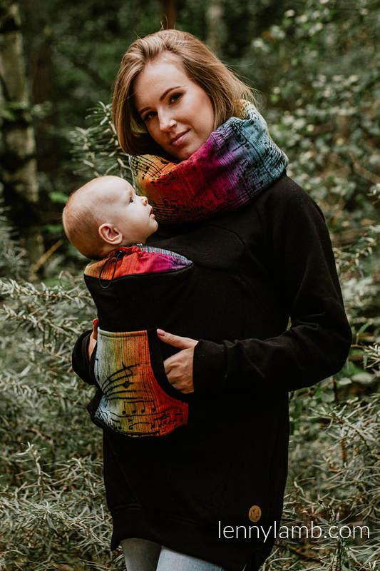 Babywearing Sweatshirt Black with Symphony Rainbow Dark