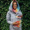 Babywearing Sweatshirt Gray with Dragonfly Rainbow