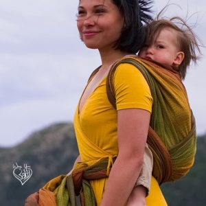 Sherwood Girasol wrap in a Toddler Rucksack Carry