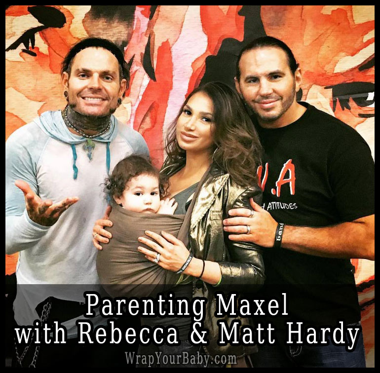 Reby Sky with Jeff and Matt Hardy Baby Wearing