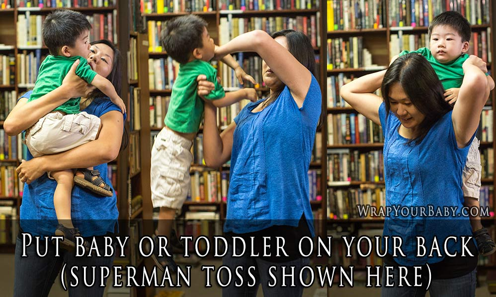 How to Superman Toss Your Baby onto Your Back