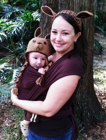 Sweet and Simple Kangaroo Babywearing Costume