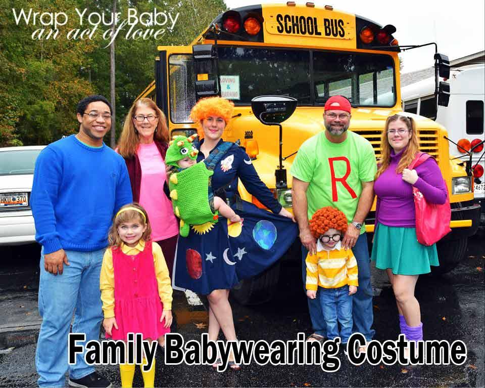 Large Family Babywearing Costume - Magic Schoolbus