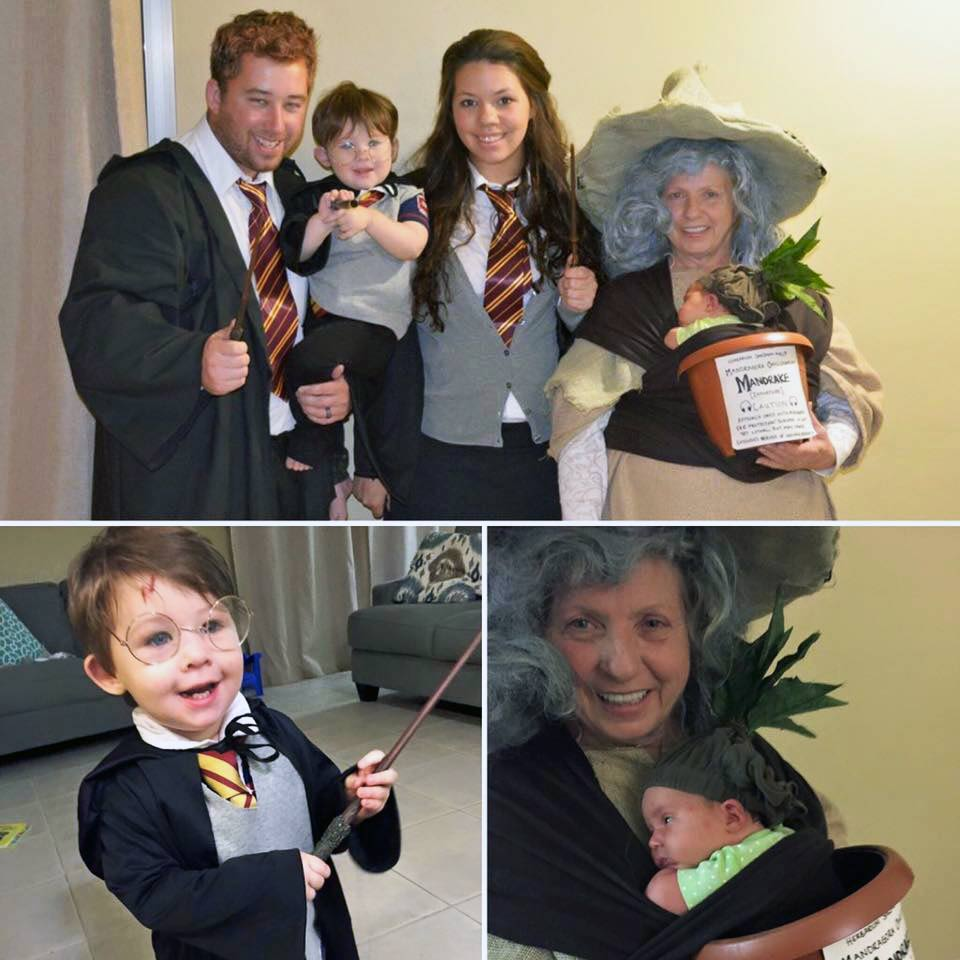 Baby Mandrake with Professor Sprout Babywearing Costume