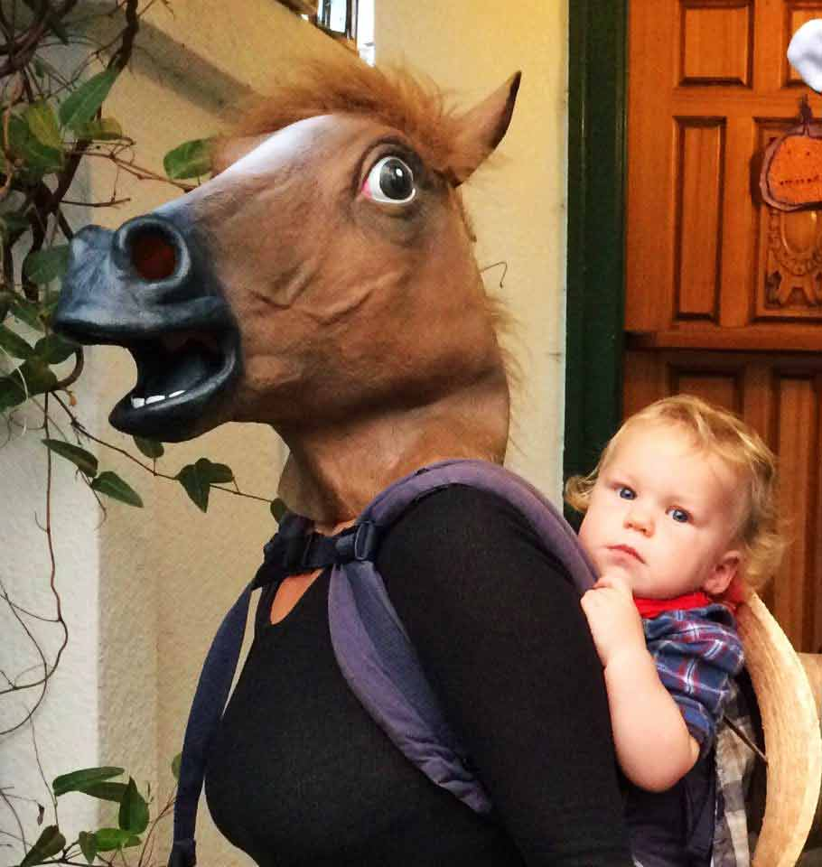 Funny Babywearing Costume - horse and rider
