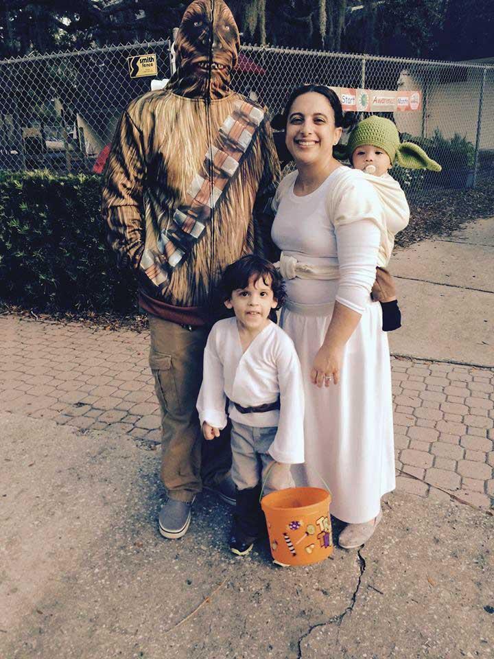Family Costume Babywearing Yoda