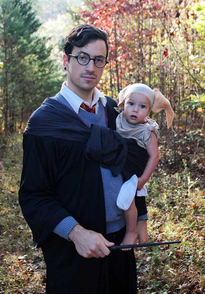 Harry Potter and Dobby Babywearing Costume