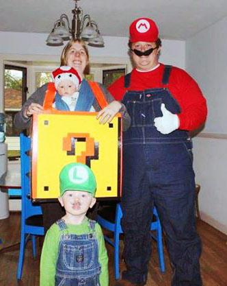 Mario Luigi One Up Mushroom Babywearing Costume