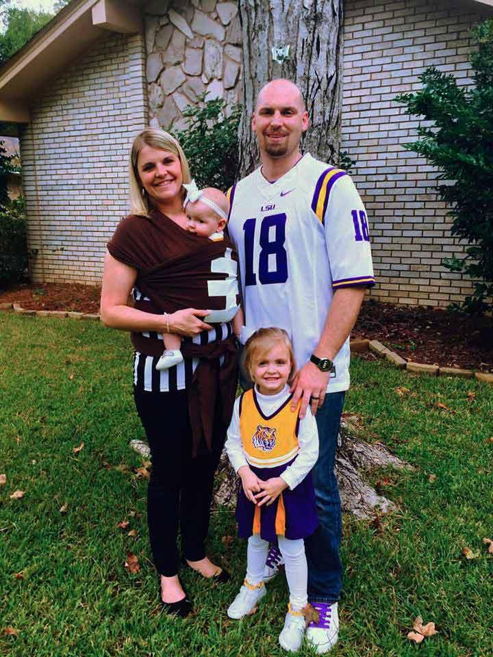 Babywearing Costume football, ref, player and cheerleader