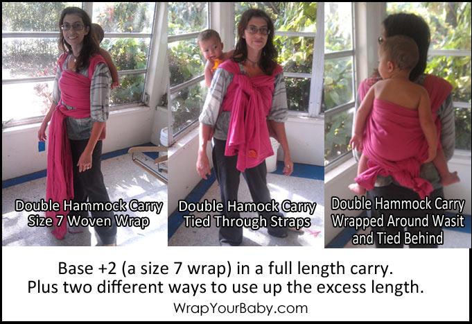 Base +2 Woven Wrap in Double Hammock Carry