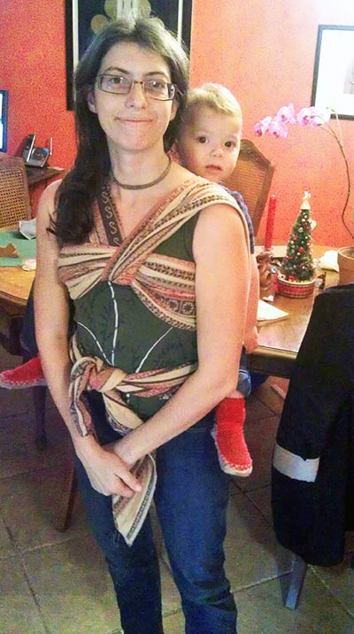Christina's Ruckless Carry with size 4 woven wrap