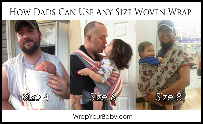 How Babywearing Dads Can Use Any Wrap Size