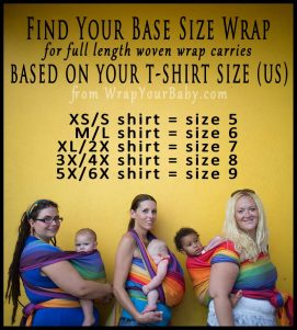 Woven Wrap Sizing Chart - What is My Base Size?
