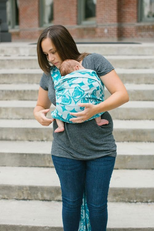 Front View of Newborn Poppins Carry