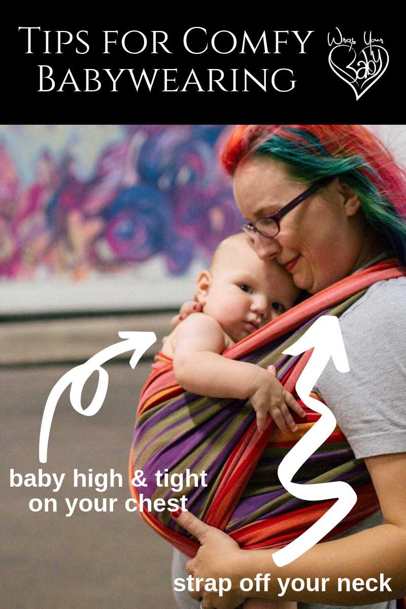 Tips for Comfortable Babywearing