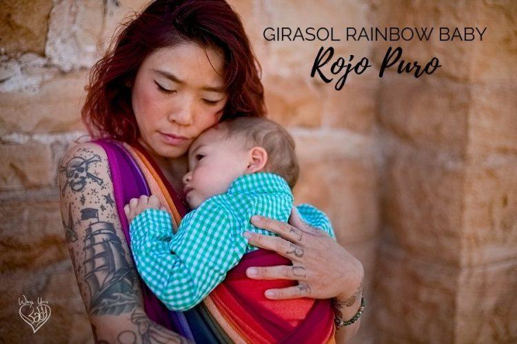 Girasol Rainbow Baby Rojo Puro Weft
