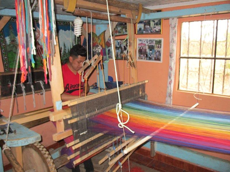 Fair Trade Woven Wrap on the Loom