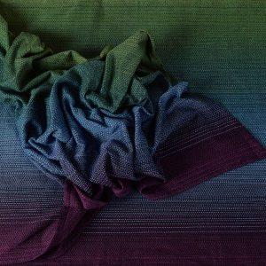 Girasol Atlantis Woven Wrap in green, blue and purple